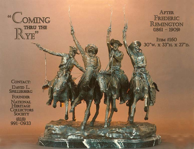 Great American Bronze Works Inc Coming Through The Rye