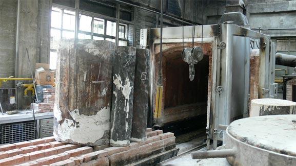 Great american bronze works inc our process for Aislante termico para hornos